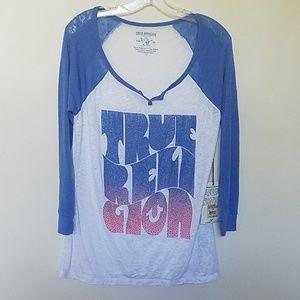 True Religion Hippy Surf Burnout T Shirt